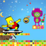 Bart Simpson Against The Monsters