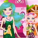 Colourful Barbie Sisters